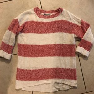 Like new pink and white striped Olivia Sky sweater